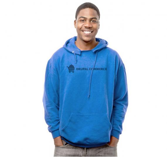 Blue hoodie (front)